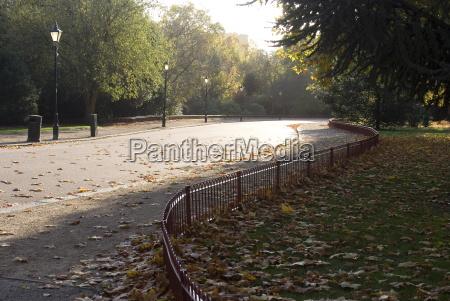 drive through battersea park london england