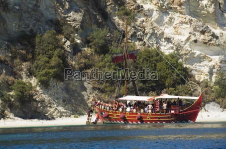 tourist trip boat lefkada lefkas ionian