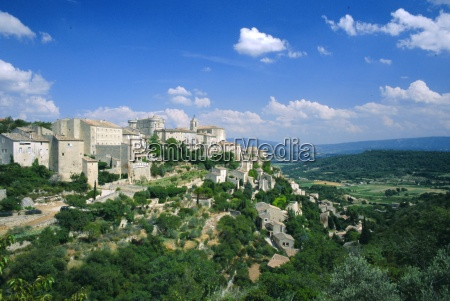 village of gordes perched above the