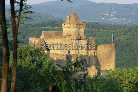 castelnaud castle in the dordogne aquitaine