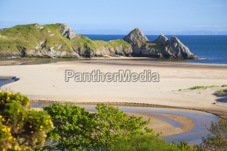 three cliffs bay gower wales united