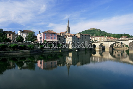 view across the aveyron river st