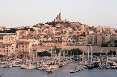 view across the vieux port to