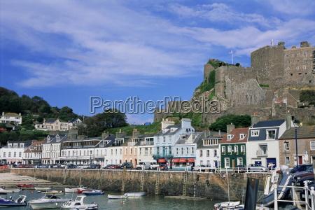 mount orgueil castle and harbour gorey