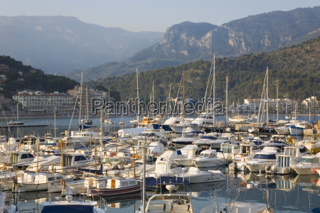 view across the harbour port de