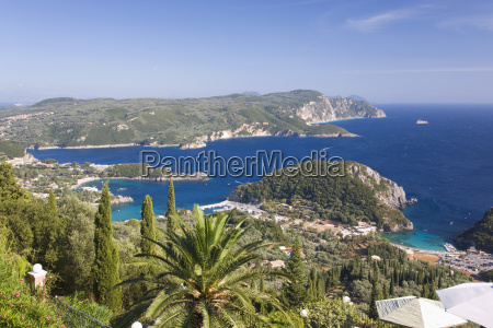 view over liapades bay from hilltop