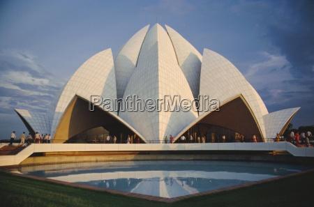 der bahai lotus blaesertempel 1980 erbaut