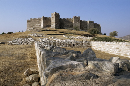 byzantine castle selcuk castle anatolia turkey
