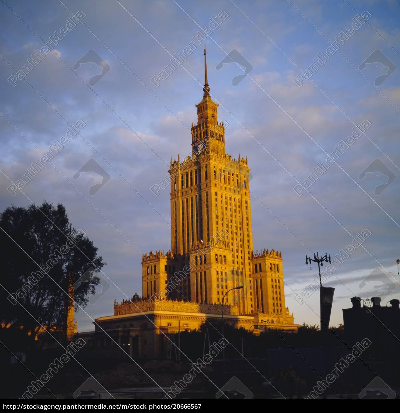 kulturpalast, stalinistische, architektur, warschau, (wraclaw), polen - 20666567
