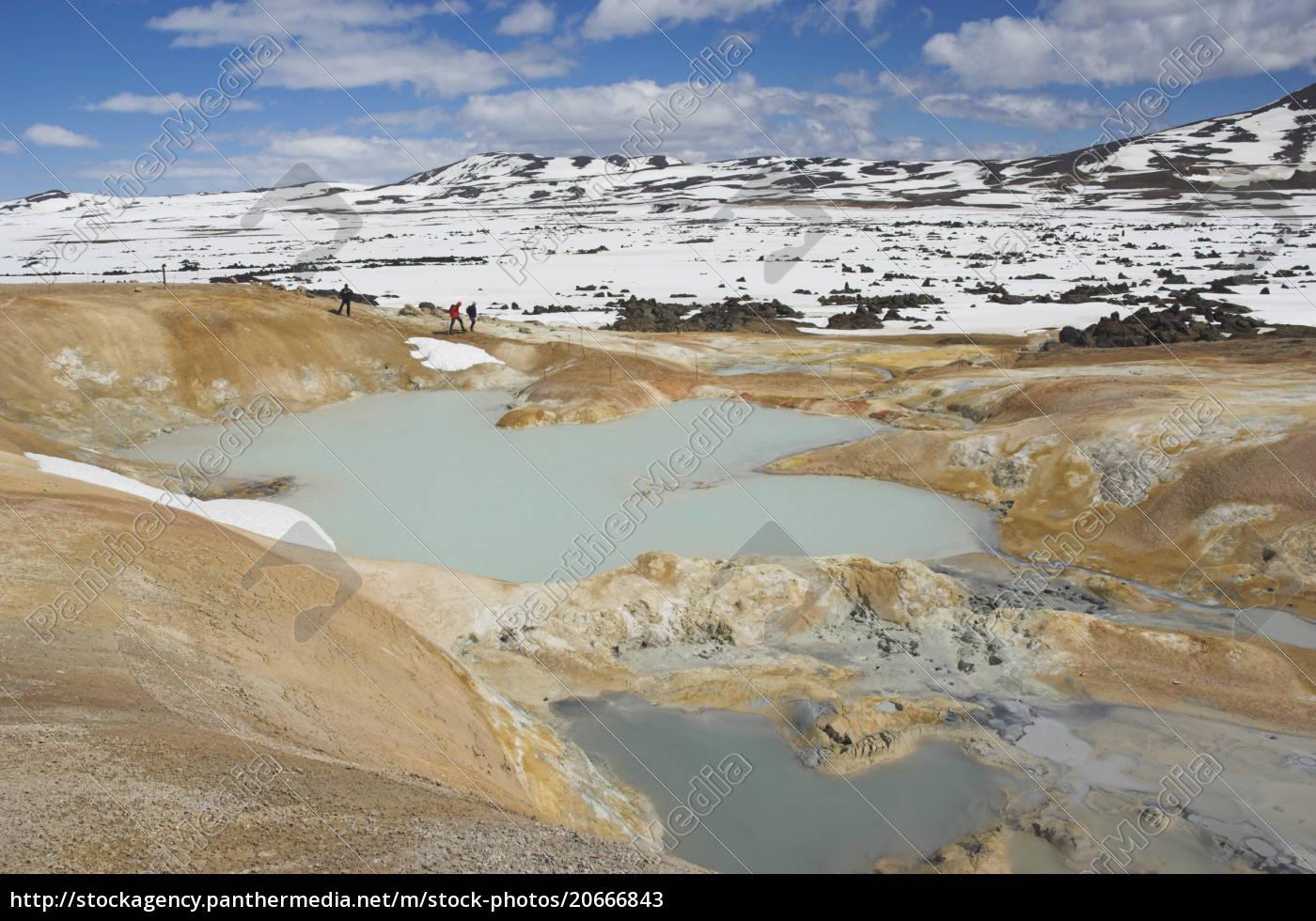 leirhnjukur, thermalgebiet, und, eruptionsstelle, in, der, nähe - 20666843