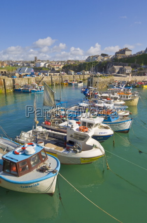 small fishing boats in the harbour