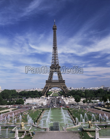 trocadero and the eiffel tower paris