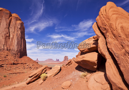 view from north window monument valley