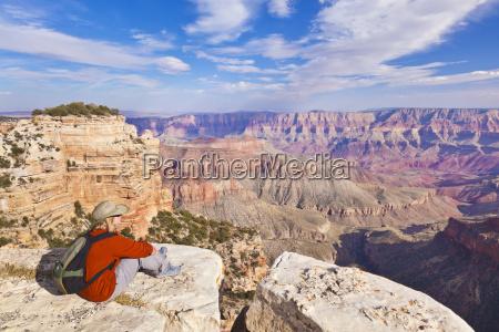 female tourist hiker walhalla overlook north