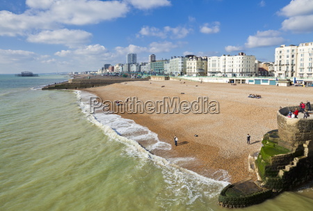 the seafront with people on the