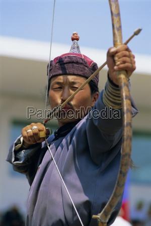 archer at the naadam festival ulaan