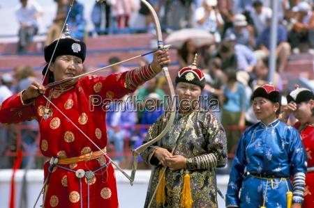 archery contest naadam festival oulaan bator