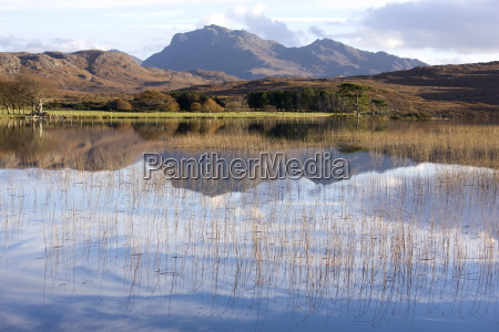 loch nan dailthean with reflections and
