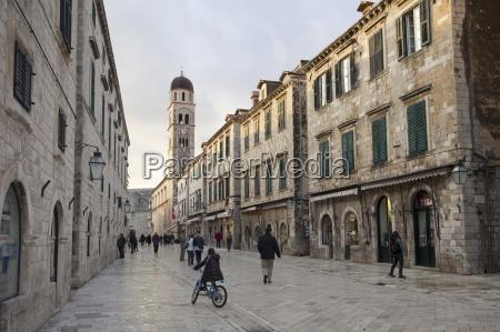 stradun street old town unesco world