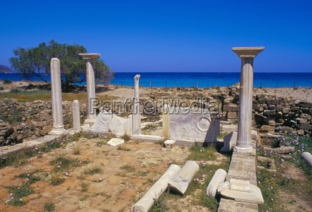 ruins of the early christian basilica