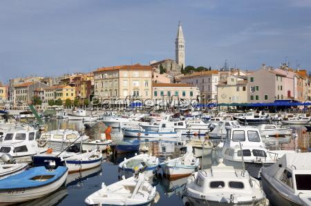 view across the harbour rovinj rovigno