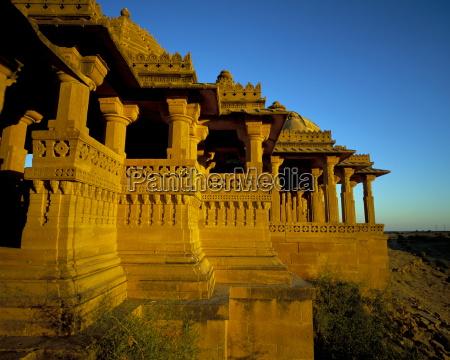 bada bagh chhatris jaisalmer rajasthan state