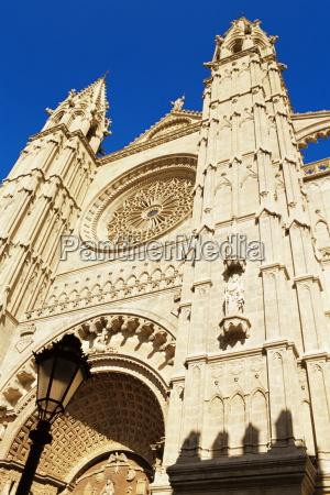 facade of palma cathedral palma de