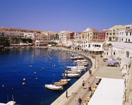 harbour and village es castell menorca