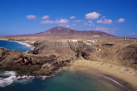papagayo beach and coastline lanzarote canary