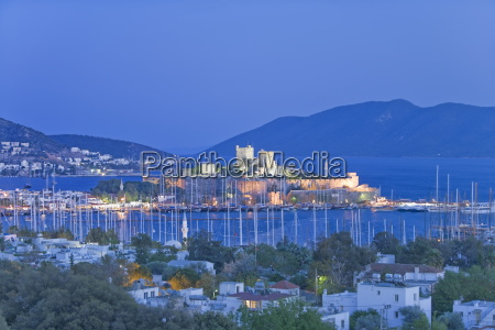 bodrum harbour and st peter castle