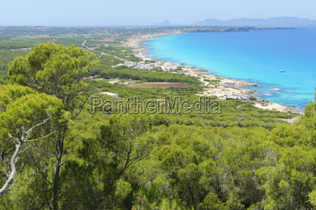 formentera island top view balearic islands
