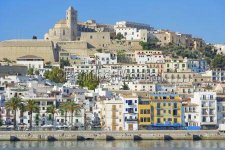 view of ibiza old town and