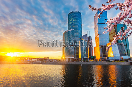 moscow city at spring