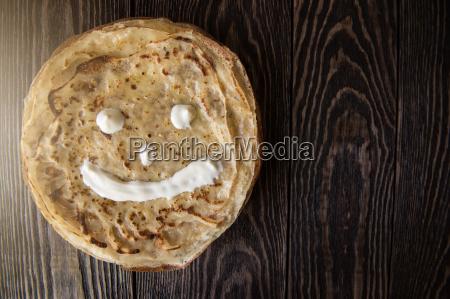 gebratene leckere pfannkuchen