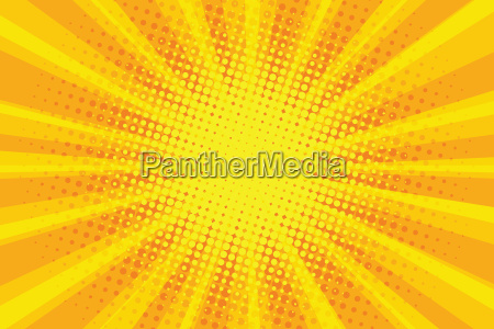 yellow orange sun pop art retro