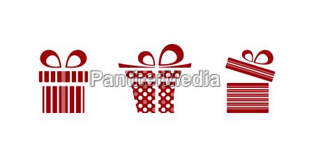 gifts icon set on white background