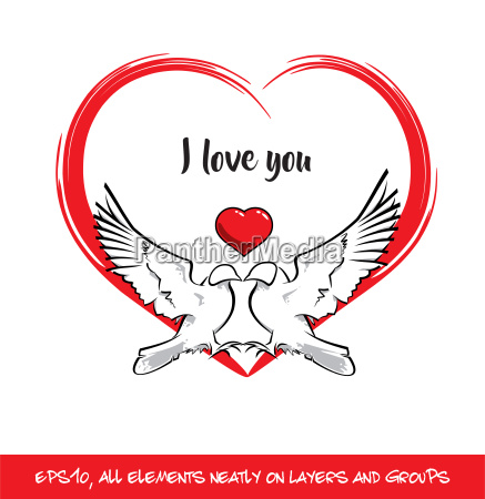 love birds i love you red