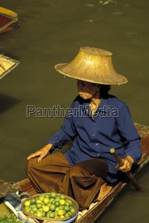 portrait of a thai woman vendor