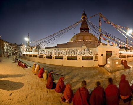 panoramic image of boudha a large