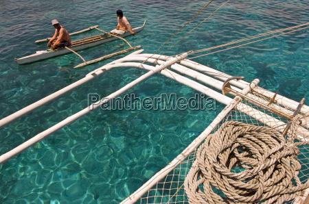 traditional boat pandanon island nalusuan marine