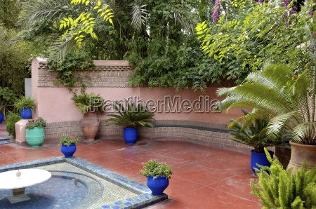 the majorelle garden created by the