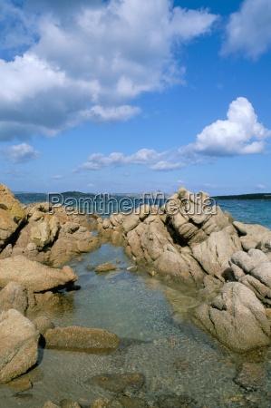 rocks on the coast island of