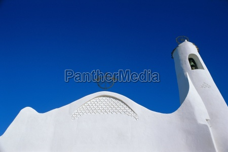 white church porto cervo sardinia italy