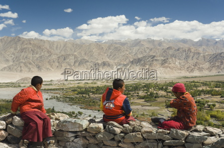 young buddhist monks ladakh indian himalaya