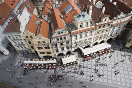 view from town hall tower of