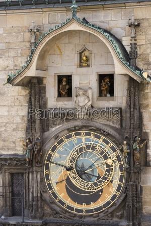 town hall clock astronomical clock old