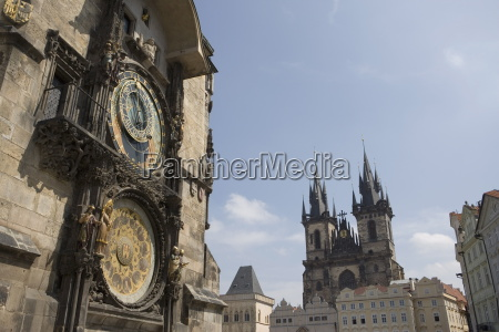 town hall clock astronomical clock and