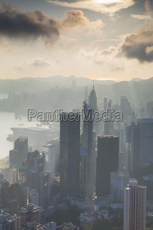 view of hong kong island skyline