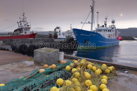 trawler and fishing nets in toftir