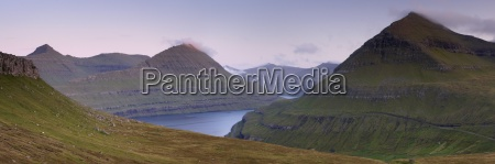 panoramic view of eysturoy hills from